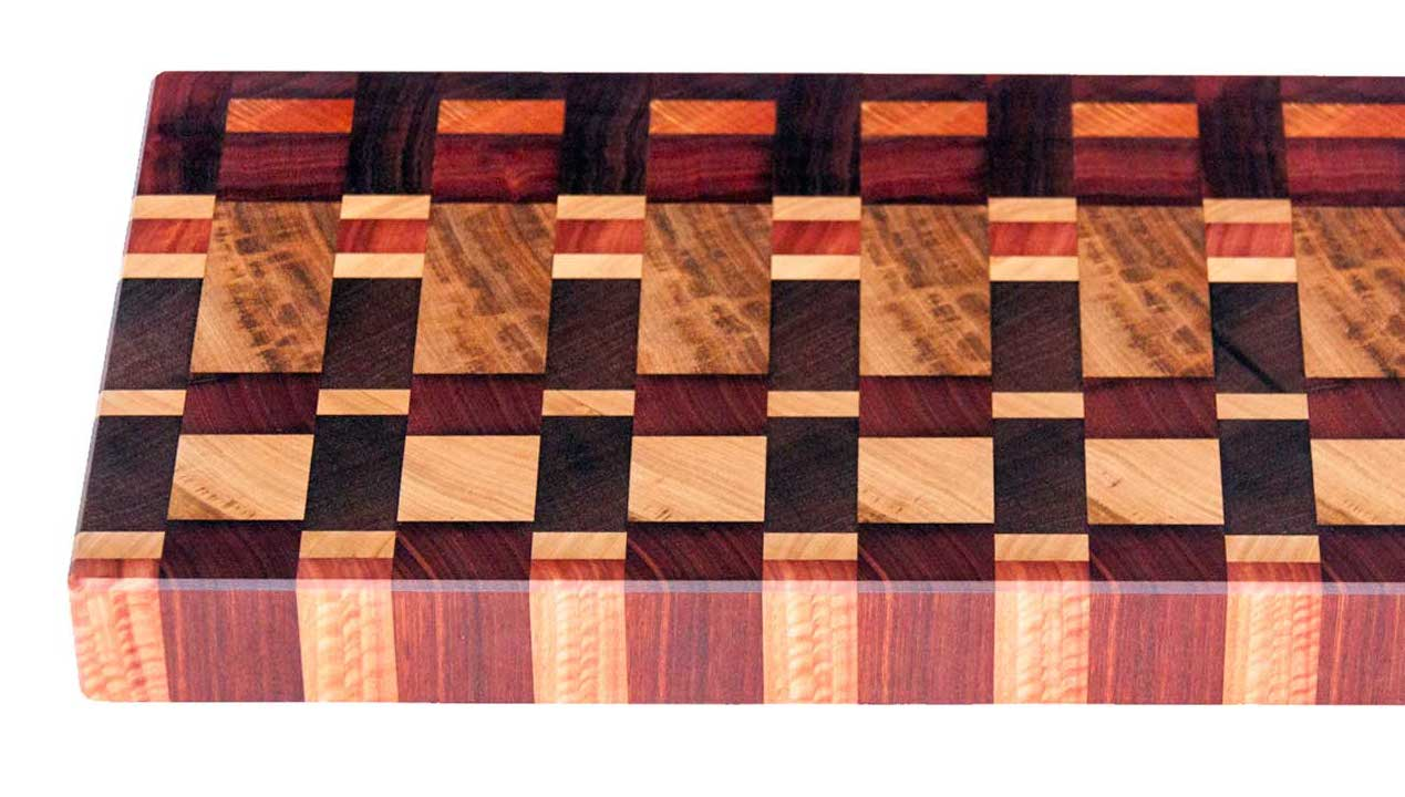 Chefs End Grain Cutting Chopping Board Jarrah Blackbutt Sheoak Marri Margaret River Cowaramup Busselton Perth