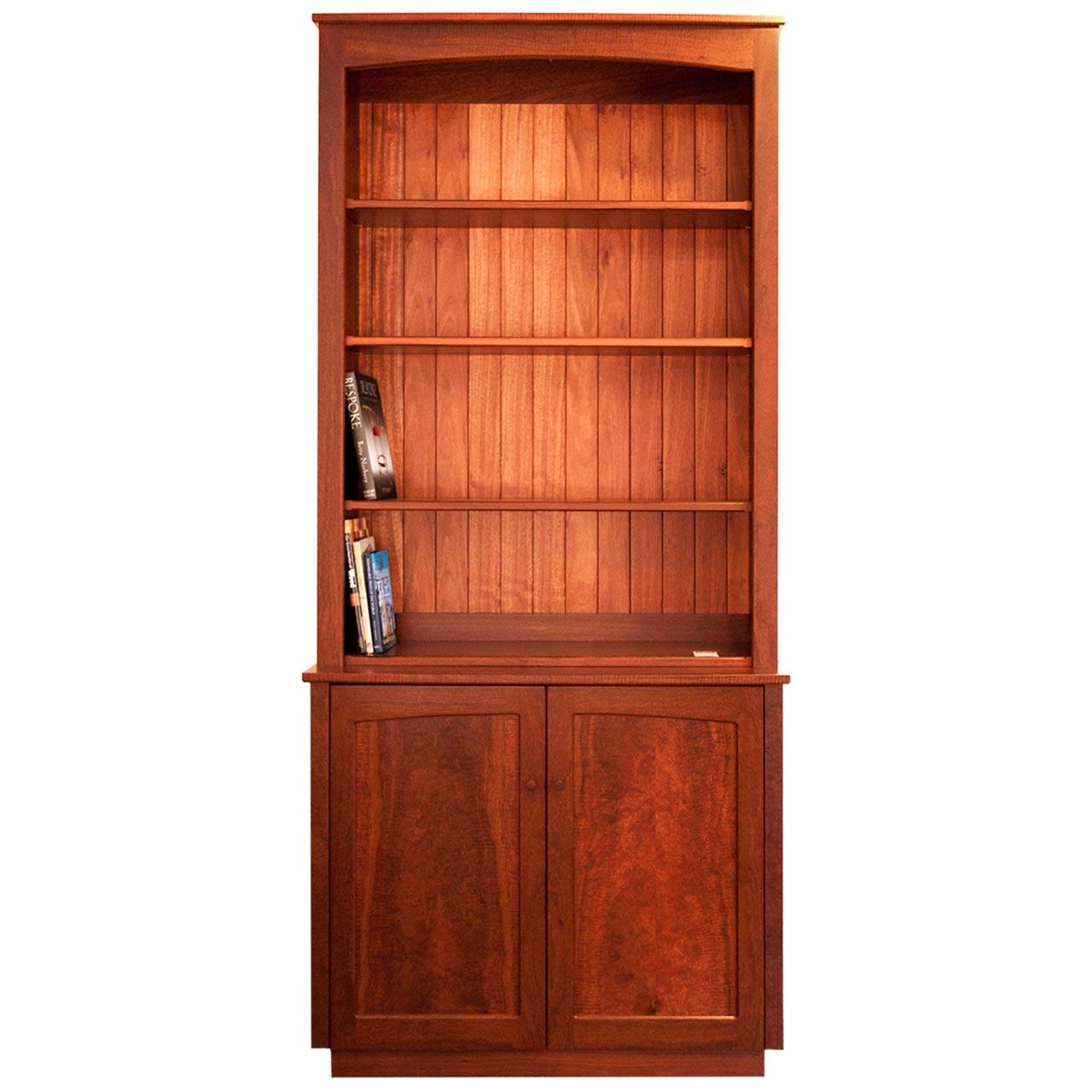 Hutch' Two Door Jarrah Cabinet with Open Shelves - Treeton Fine ...